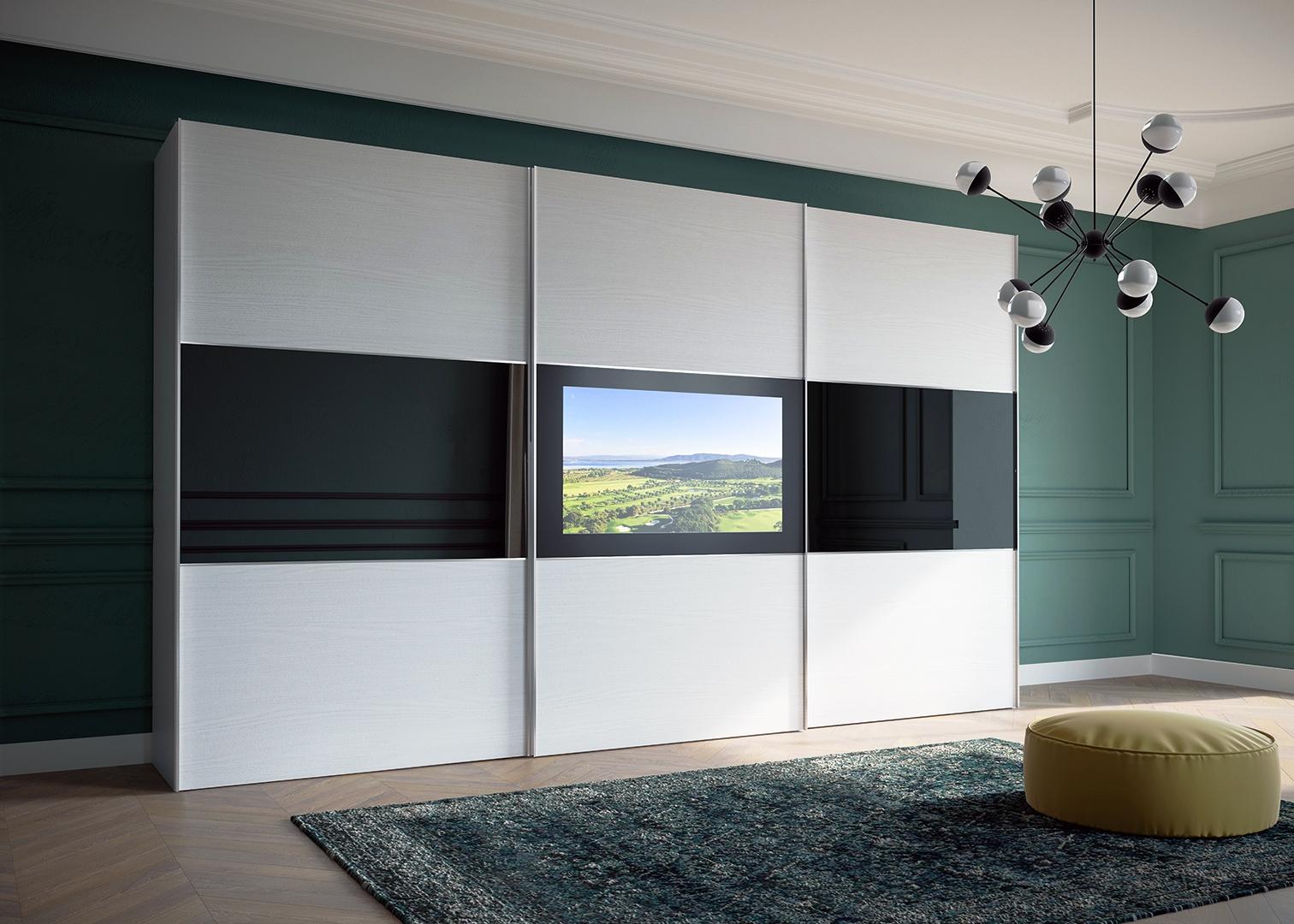 συρομενη ντουλαπα με ενσωματωμενη τηλεοραση